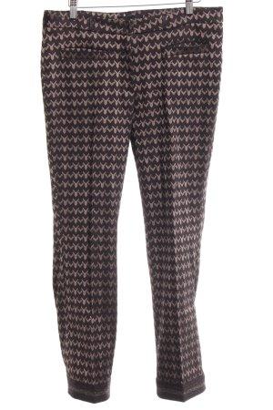 Cambio Bundfaltenhose schwarz abstraktes Muster extravaganter Stil
