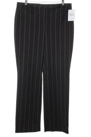 Cambio Bundfaltenhose schwarzbraun-dunkelbraun Streifenmuster Business-Look