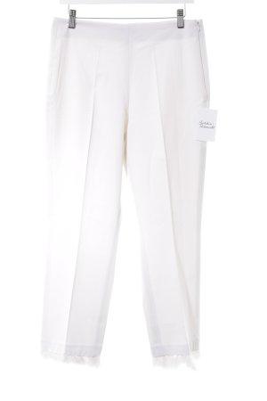 Cambio Pantalon à pinces blanc cassé élégant