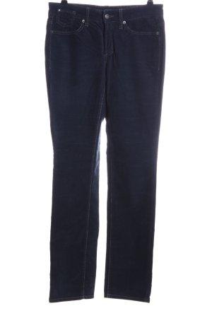 Cambio Pantalone di velluto a coste blu stile casual