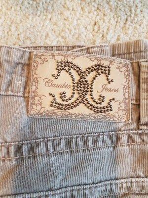 Cambio Corduroy Trousers camel-beige cotton