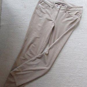 Cambio * Edle 4-Pocket-Style Hose Jeans PARLA * beige-nude Wildlederoptik * 42/44 L30