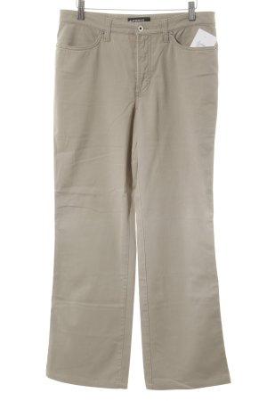 Cambio Pantalon taille haute beige style décontracté