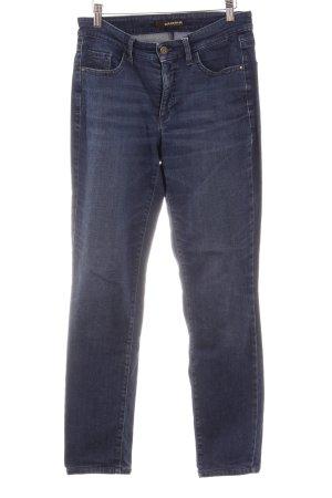 Cambio High Waist Jeans dunkelblau-graublau Webmuster Casual-Look