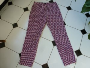 Cambio Chinos pink-white cotton
