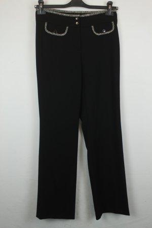 Cambio Marlene Trousers black-white wool