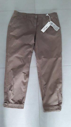 Cambio Jeans Pantalone a vita bassa sabbia Cotone