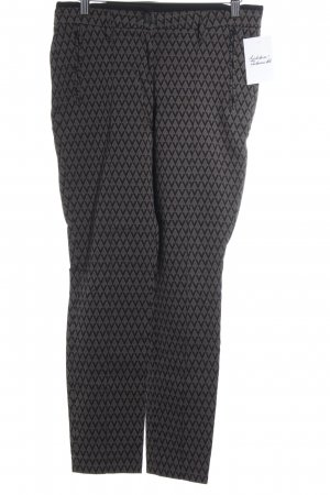 Cambio Hüfthose graubraun-schwarz abstraktes Muster Casual-Look