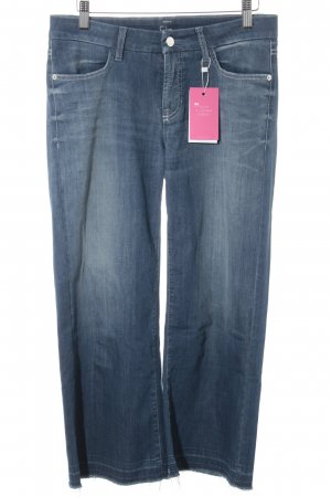 Cambio Jeans 7/8 Jeans dunkelblau-wollweiß Casual-Look