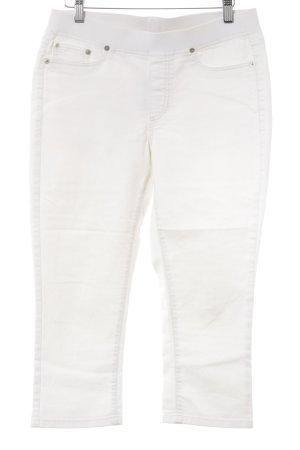 Cambio Jeans Vaquero 7/8 blanco puro look casual