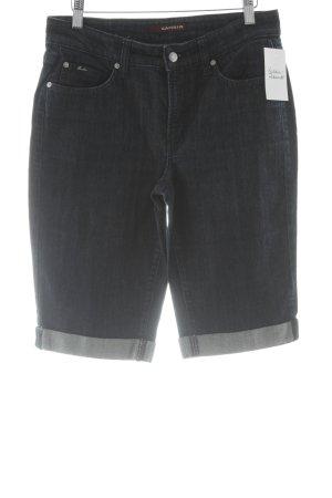 Cambio Jeans Bermuda dunkelblau-wollweiß Casual-Look