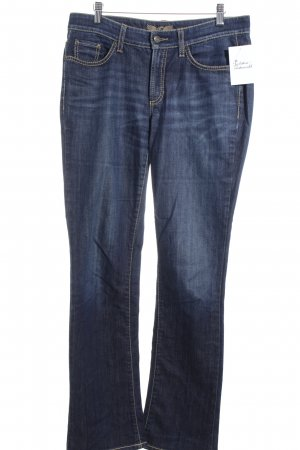Cambio Jeans Boot Cut Jeans dunkelblau Casual-Look