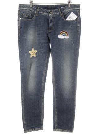 Cambio Jeans Boot Cut Jeans stahlblau Street-Fashion-Look