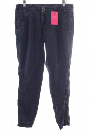 Cambio Jeans Chinohose dunkelblau Casual-Look
