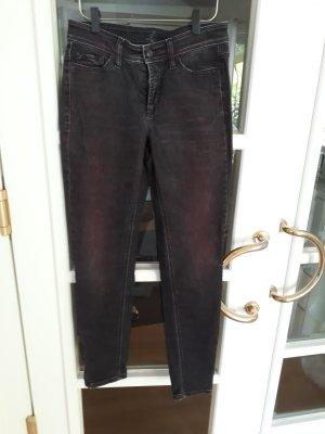 Cambio Pantalon 3/4 gris anthracite-rouge foncé