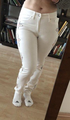 Cambio Jeans Pantalon strech blanc