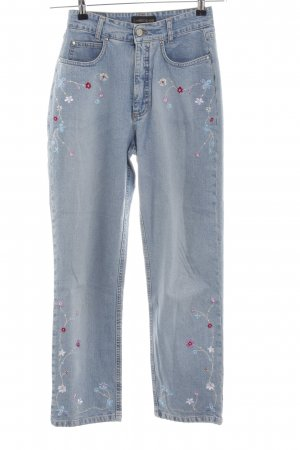 Cambio Jeans High Waist Jeans blau Blumenmuster Casual-Look