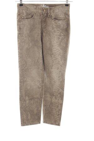 Cambio Jeans Hüftjeans bronzefarben Animalmuster Casual-Look