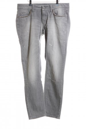 Cambio Jeans Low Rise jeans lichtgrijs casual uitstraling