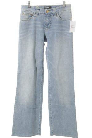 Cambio Jeans Jeans flare vert pâle-bleu clair Aspect de jeans