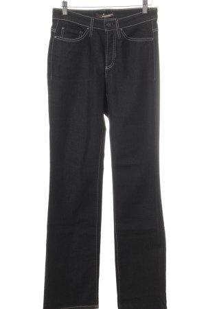 Cambio Jeans Marlene jeans zwart krijtstreep casual uitstraling