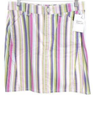 Cambio Jeans Minirock Streifenmuster Casual-Look