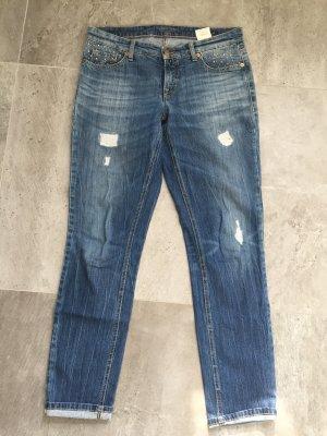 Cambio Jeans mit Waschung und Strasssteinen Größe 40
