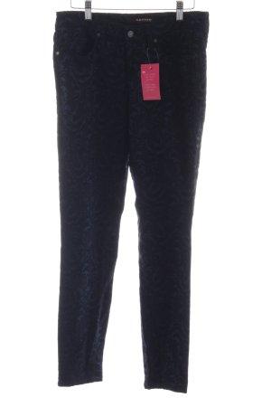 Cambio Jeans Pantalón de tubo negro-azul oscuro estampado floral