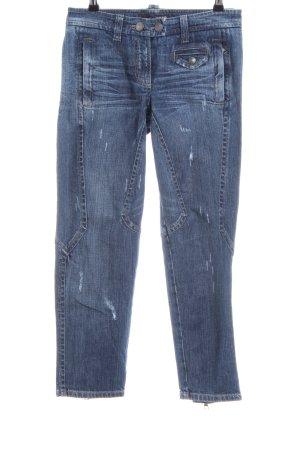 Cambio Jeans Röhrenjeans blau Casual-Look