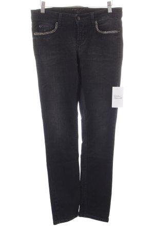 Cambio Jeans silberfarben-schwarz schlichter Stil