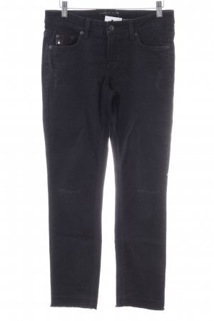 Cambio Jeans Slim Jeans schwarz Casual-Look
