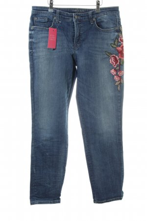Cambio Jeans Slim Jeans Blumenmuster Casual-Look