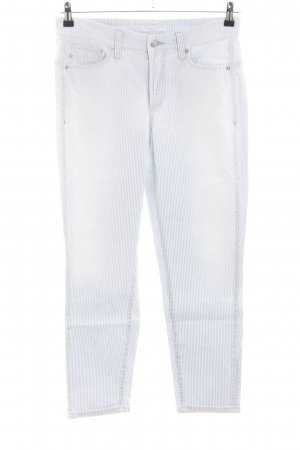 Cambio Jeans Slim Jeans hellgrau-weiß Streifenmuster Casual-Look