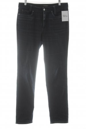 Cambio Jeans Slim jeans donkerblauw gestippeld simpele stijl
