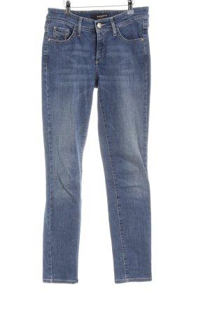 Cambio Jeans Slim Jeans dunkelblau-stahlblau Jeans-Optik