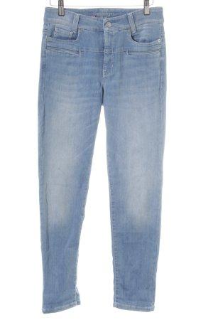 Cambio Jeans Jeans slim bleuet moucheté style décontracté