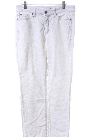 Cambio Jeans Slim Jeans weiß-grau Animal-Look