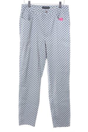 Cambio Jeans Stoffhose hellgrau-dunkelblau abstraktes Muster klassischer Stil