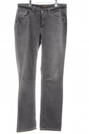 Cambio Jeans Straight-Leg Jeans hellgrau Casual-Look