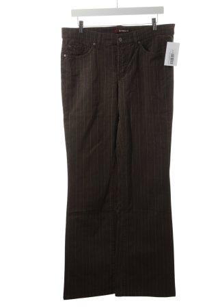 Cambio Jeans Straight-Leg Jeans braun-weiß Nadelstreifen Casual-Look