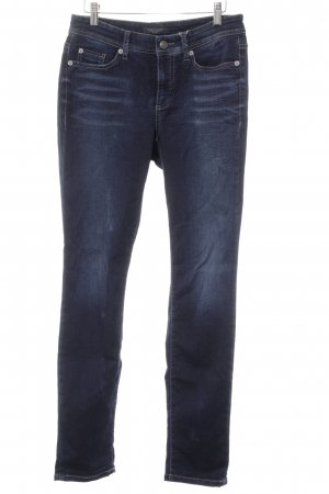 Cambio Jeans Straight-Leg Jeans dunkelblau Washed-Optik