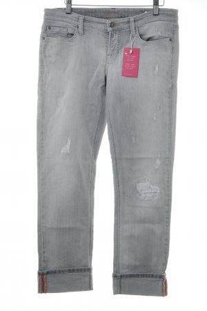 Cambio Jeans Jeans met rechte pijpen lichtgrijs casual uitstraling