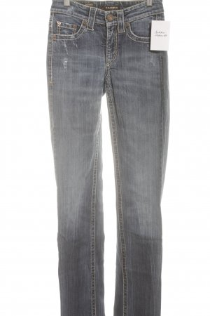 Cambio Jeans Straight-Leg Jeans stahlblau Casual-Look