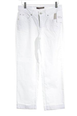 Cambio Jeans Jeans coupe-droite blanc style décontracté