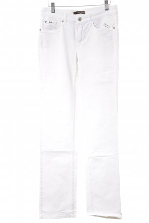 Cambio Jeans Straight-Leg Jeans weiß Casual-Look