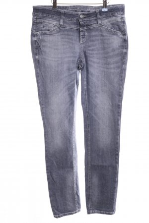 Cambio Jeans Stretch Jeans hellgrau Casual-Look