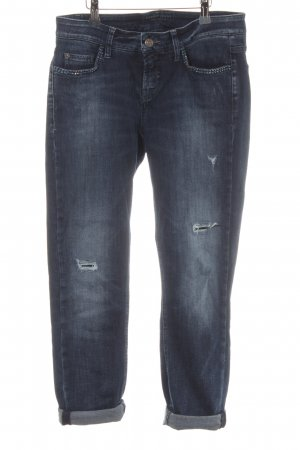 Cambio Jeans Stretch Jeans dunkelblau Casual-Look