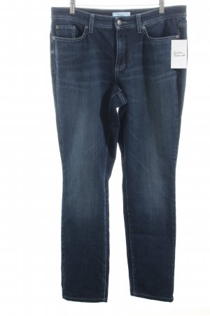 Cambio Jeans Stretch Jeans dunkelblau Washed-Optik