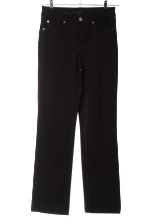 Cambio Jeans Pantalon strech noir style décontracté