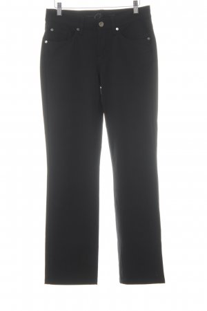 Cambio Jeans Stretchhose schwarz Business-Look